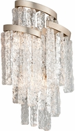 Corbett 243-13 Mont Blanc Modern Modern Silver Leaf Wall Sconce Lighting