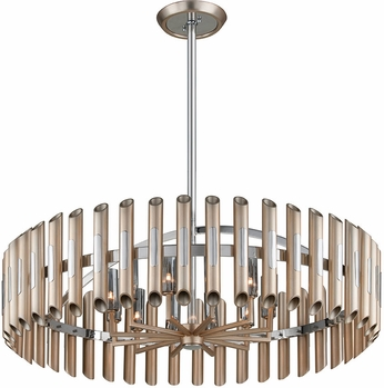 Corbett 245-412 Arpeggio Modern Antique Silver Leaf W/ Plished Stainless Accents Drop Lighting