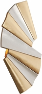 Corbett 250-11 Taffeta Modern Gold Leaf And Modern Silver Leaf LED Wall Light Sconce