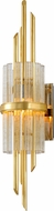 Corbett 257-12 Symphony Contemporary Gold Leaf Wall Light Fixture