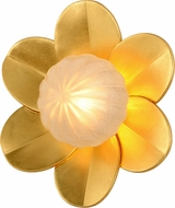 Corbett 260-12 Gigi Contemporary Gold Leaf LED Wall Sconce Lighting