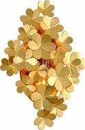 Corbett 260-14 Gigi Contemporary Gold Leaf Wall Light Sconce