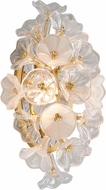 Corbett 268-11 Jasmine Contemporary Gold Leaf LED Lamp Sconce