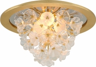 Corbett 268-31 Jasmine Modern Gold Leaf LED Ceiling Lighting