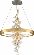 Corbett 268-71 Jasmine Contemporary Gold Leaf LED 28  Pendant Lighting