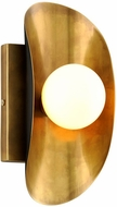 Corbett 271-11 Hopper Contemporary Vintage Brass Bronze Accent Wall Sconce