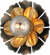 Corbett 278-13 Magic Garden Contemporary Black Graphite Bronze Leaf Xenon Wall Light Fixture