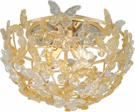 Corbett 279-34 Milan Contemporary Gold Leaf Ceiling Light Fixture