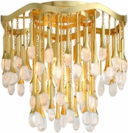 Corbett 286-33 Kiara Modern Gold Leaf Ceiling Lighting