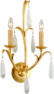 Corbett 293-12 Prosecco Modern Gold Leaf Wall Lighting