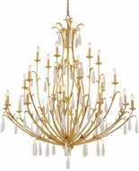 Corbett 293-724 Prosecco Contemporary Gold Leaf Chandelier Lighting