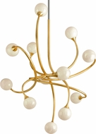 Corbett 294-012 Signature Contemporary Gold Leaf LED Hanging Chandelier