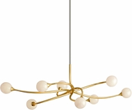 Corbett 294-58 Signature Contemporary Gold Leaf LED Island Lighting