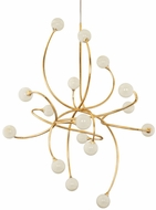 Corbett 294-716 Signature Contemporary Gold Leaf LED Lighting Chandelier