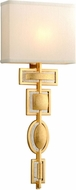 Corbett 295-11 Script Contemporary Gold Leaf Lighting Sconce