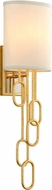 Corbett 297-11 Halo Contemporary Gold Leaf Lamp Sconce