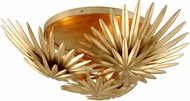 Corbett 309-33 Savvy Contemporary Vintage Gold Leaf Ceiling Light