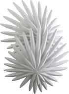 Corbett 310-12 Savvy Contemporary Gesso White Wall Light Sconce