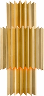 Corbett 311-13 Moxy Contemporary Gold Leaf Wall Light Sconce