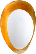 Corbett 314-11 Ginger Modern White And Gold Leaf Sconce Lighting