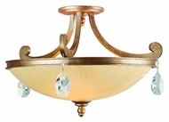 Corbett 71-33 Roma 22 Inch Diameter Antique Roman Silver Semi Flush Ceiling Lighting