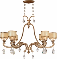 Corbett 71-56 Roma Antique Roman Silver Island Lighting Chandelier