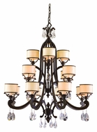 Corbett 86-016 Roma Bronze 48 Inch Tall 16 Lamp Large Chandelier With Shades