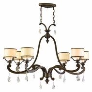 Corbett 86-56 Roma 43 Inch Wide 6 Lamp Bronze Island Light Fixture