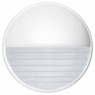 Costaluz 301953-FR 3019 Series Modern White Frosted Exterior Wall Lamp