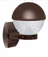 Costaluz 306198-WALL-FR 3061 Series Contemporary Bronze Frosted Outdoor Wall Mounted Lamp