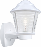 Costaluz 310053-WALL-FR 3100 Series Contemporary White Frosted Outdoor Lamp Sconce