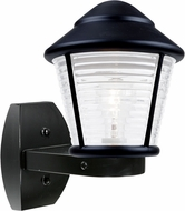 Costaluz 310057-WALL-FR 3100 Series Contemporary Black Frosted Outdoor Wall Light Fixture