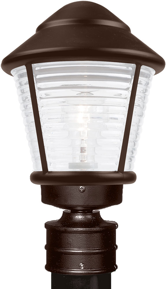 Costaluz 310098 Post Fr 3100 Series Contemporary Bronze Frosted Outdoor Lighting Light