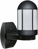 Costaluz 315157-WALL-FR 3151 Series Modern Black Frosted Exterior Lamp Sconce