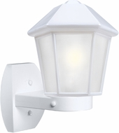 Costaluz 327253-WALL-FR 3272 Series Contemporary White Frosted Outdoor Wall Light Sconce