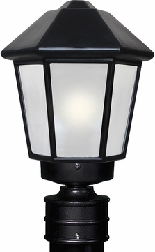 Costaluz 327257-POST-FR 3272 Series Contemporary Black Frosted Outdoor Post Lighting