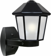 Costaluz 327257-WALL-FR 3272 Series Contemporary Black Frosted Outdoor Wall Light Sconce