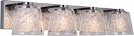 Craftmade 19327CH4-LED Bevi Contemporary Chrome LED 4-Light Lighting For Bathroom