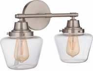 Craftmade 19518BNK2 Essex Brushed Polished Nickel 2-Light Bathroom Lighting