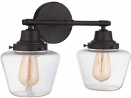 Craftmade 19518FB2 Essex Flat Black 2-Light Lighting For Bathroom