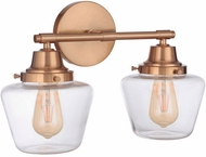 Craftmade 19518SB2 Essex Satin Brass 2-Light Bath Lighting