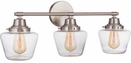 Craftmade 19528BNK3 Essex Brushed Polished Nickel 3-Light Bathroom Light
