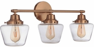 Craftmade 19528SB3 Essex Satin Brass 3-Light Vanity Lighting