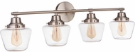 Craftmade 19538BNK4 Essex Brushed Polished Nickel 4-Light Vanity Light