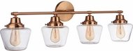 Craftmade 19538SB4 Essex Satin Brass 4-Light Bath Lighting Fixture