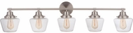 Craftmade 19548BNK5 Essex Brushed Polished Nickel 5-Light Bathroom Light Fixture