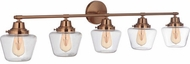 Craftmade 19548SB5 Essex Satin Brass 5-Light Bathroom Vanity Light
