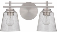 Craftmade 19616BNK2 Drake Brushed Polished Nickel 2-Light Bathroom Sconce
