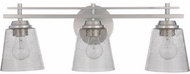 Craftmade 19624BNK3 Drake Brushed Polished Nickel 3-Light Vanity Light Fixture