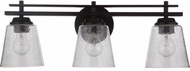 Craftmade 19624FB3 Drake Flat Black 3-Light Vanity Lighting Fixture